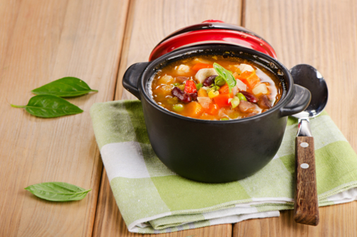 Chunky canned soup (non-creamy)