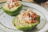 Smoked salmon stuffed avocado