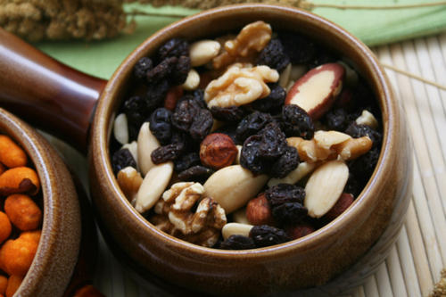 Walnut almond trail mix