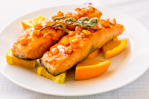 Orange & rosemary salmon