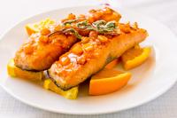 Orange & rosemary salmon