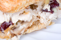 Simple chicken salad sandwich