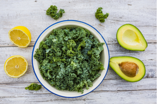 Simple kale & avocado salad