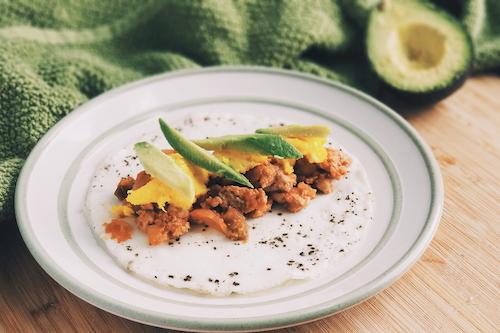 Egg tortilla breakfast taco
