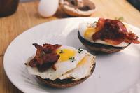 Open-faced mushroom breakfast sliders