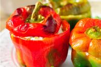 Avocado tuna salad stuffed pepper