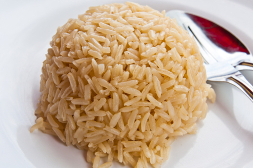 Buttery brown rice