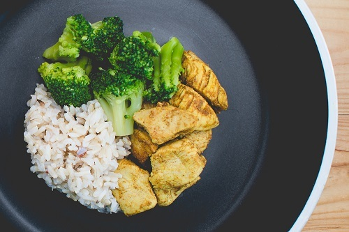 Chicken-broccoli-rice bowl