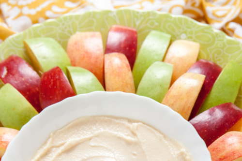 Apple and protein fruit dip