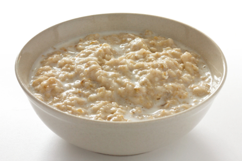 Instant oatmeal with milk