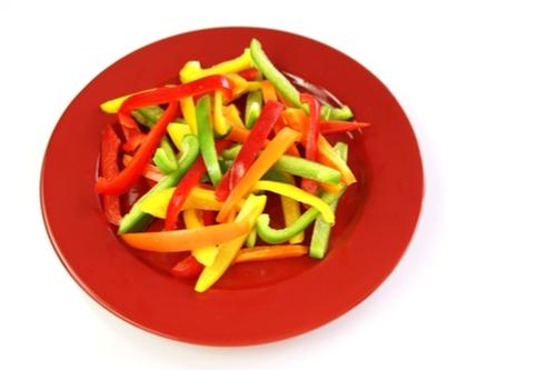 Pepper strips and guacamole (keto)
