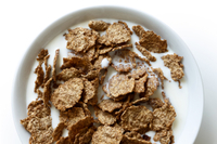 Higher-calorie breakfast cereal w/ protein almond milk